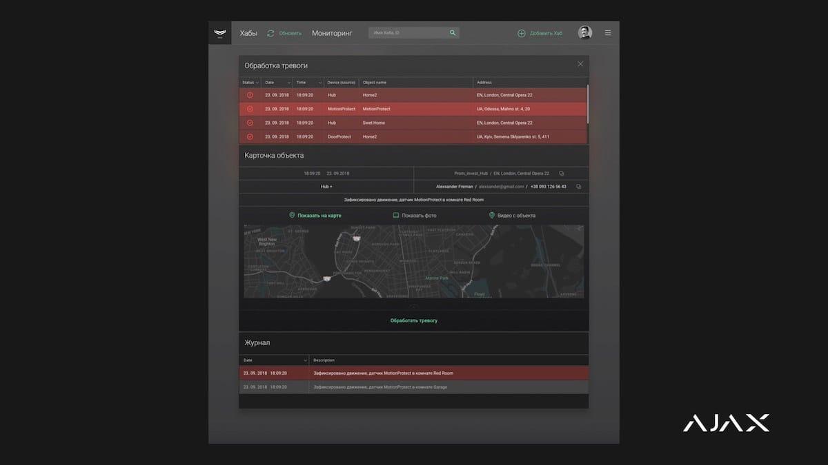 Ajax PRO Desktop Monitoring