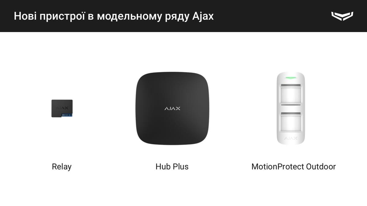 нові пристрої Ajax